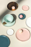 UNC - bord Good morning - oud roze_