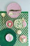 Rice Small Melamine Bowl Green Rose Print