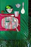 Rice Medium Melamine Bowl Summer Stripes Print