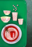 Rice - Medium Melamine Cup - Sweet Hearts Print