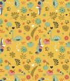Lola - tafelzeil  - Exotic garden - saffraan