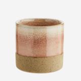 Madame Stoltz - mini bloempotje- two tone - roze/natural