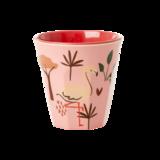 Rice - Kleine melamine kids cup - flamingo