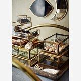Madame Stoltz - glazen tray - goud S