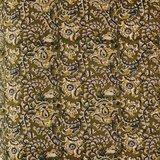 Madame Stoltz -Bankkussen 60 x 100- Olijfgroen - blauw-roze print