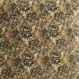 Madame Stoltz -Bankkussen 60 x 100- Zand - mosterd/olijf print