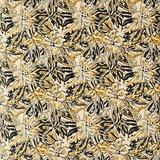 Madame Stoltz -Bankkussen 80 x 120- Zand - mosterd/grijs/zwart