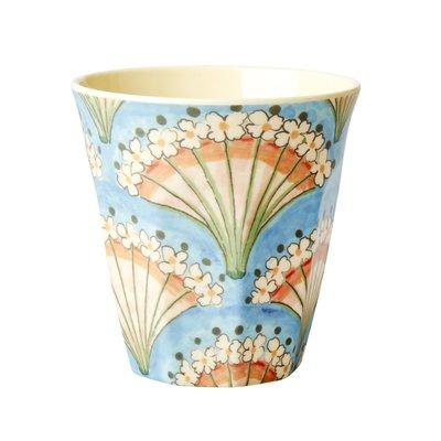 Rice - Melamine Cup - Bloemen Waaier Print - Medium