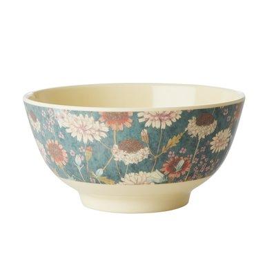 Rice - Melamine kom met herfstbloemen - Medium