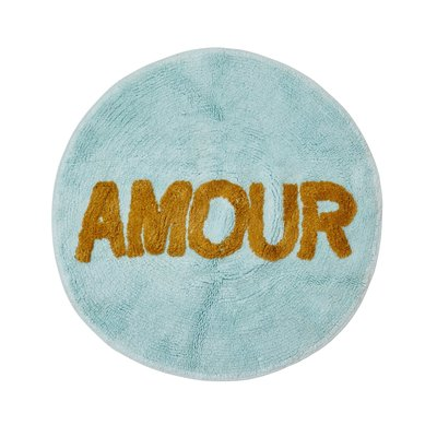 RICE - Tufted Round Floor Mat in Mint - AMOUR