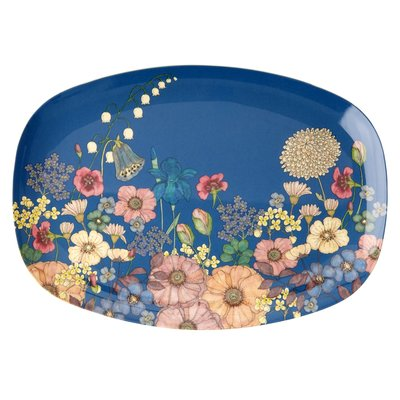 Rice - Melamine bord met bloemencollage