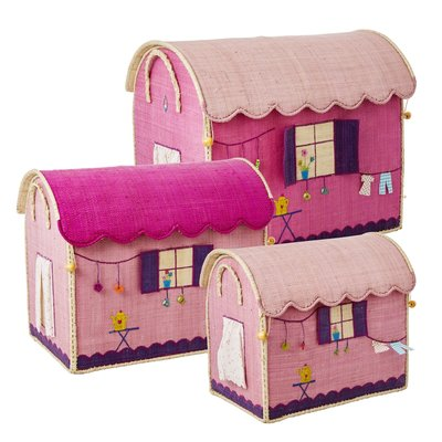 Rice - speelgoedmanden met caravan-kermis thema - Set van 3