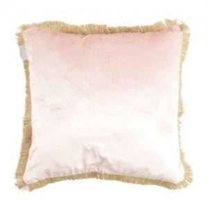 viscose velvet kussen - roze