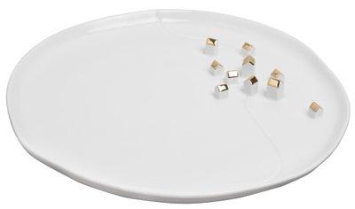 Rader - Porseleinen bord - goud
