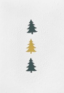 Räder - Postcard - Christmas trees
