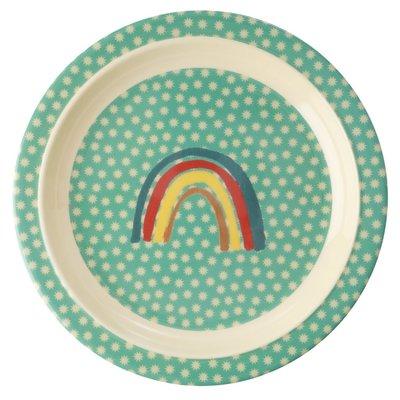 Rice - Melamine Kids Plate - Rainbow and Stars Print
