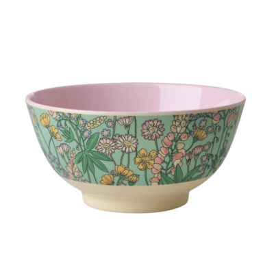 Rice - Medium melamine kom - Lupine-Print