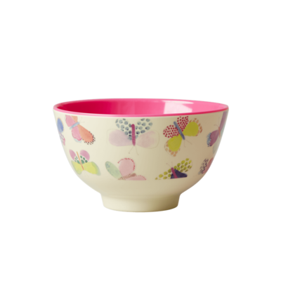Rice - Small Melamine Bowl - Butterfly Print