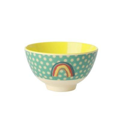 Rice - Kleine melamine kom - regenboog en sterren print