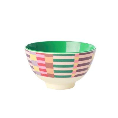 Rice - Small Melamine Bowl - Summer Stripes Print