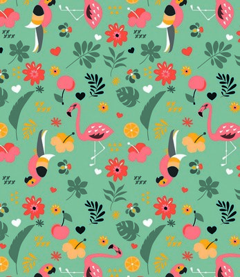Lola - tafelzeil  - Exotic garden - Mint groen