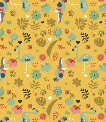 Lola - tafelzeil  - Exotic garden - Saffraan geel