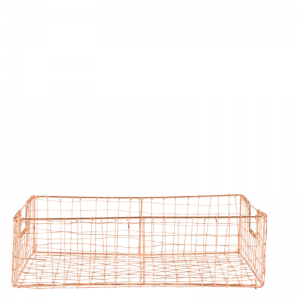 Braxton - draadmand koper 33 x 44 cm