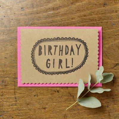 Wenskaart - Birthday girl