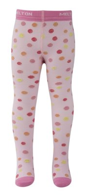 Melton - maillot - roze/gekleurde stippen/goud