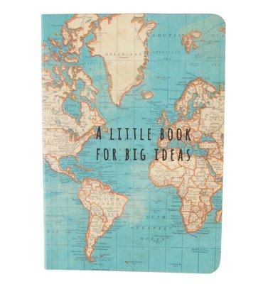 Sass & Belle - Notitieboek - Vintage Map