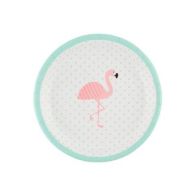 Sass & Belle - Papieren bordjes - Tropische flamingo