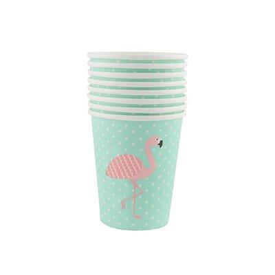 Sass & Belle - Papieren bekertjes - Tropische flamingo