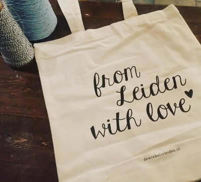 Canvas tas -'From Leiden with Love'