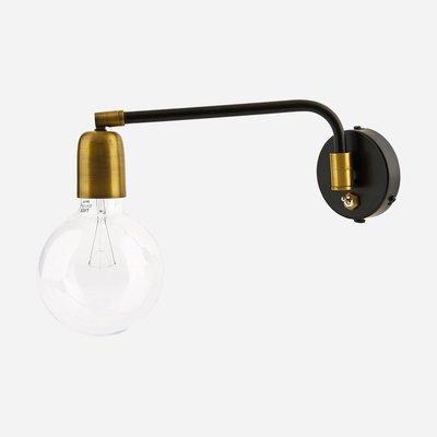House Doctor - wandlamp - molecular - zwart/brass