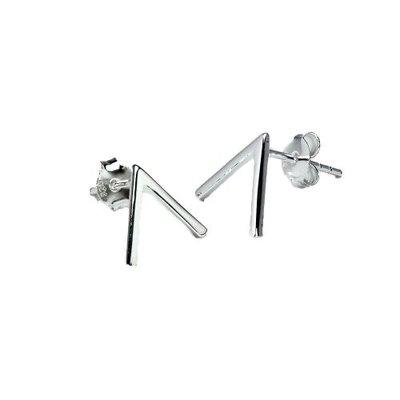 Juulry - oorknopje - V-teken - zilver