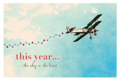 Kerstkaart - This Year the sky is the limit