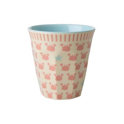 Rice - Melamine kids cup- Krab en zeester print