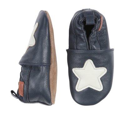 Melton babyschoen blauw ster