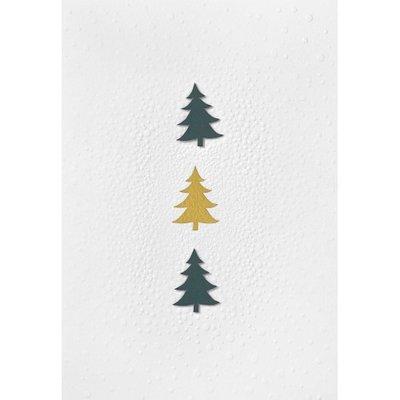 Räder - Christmas postcard - Fir trees