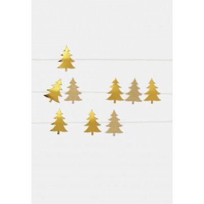 Räder - Christmas postcard - Fir trees at ribbon