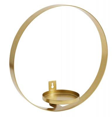 Nordal - Cirkel muurhanger kaars - Brass