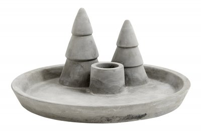 Nordal - Candle holder - Trees - Cement