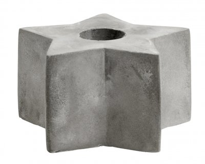 Nordal - Candle holder - Star medium - Cement