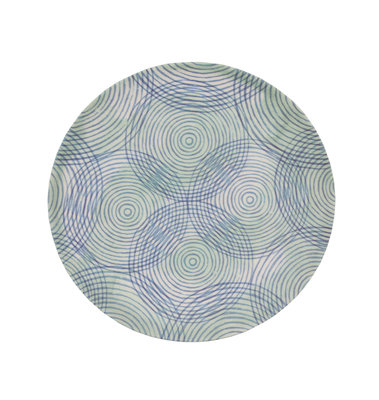 UNC Bamboo plate - Colourfull circles -  Ø 20