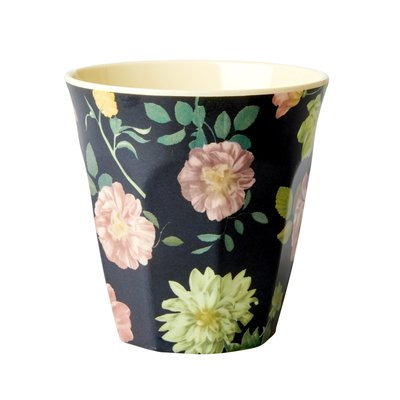Rice - Melamine cup - Dark Rose print