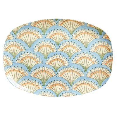 Rice - langwerpig bord / Schaal - Flower Fan Print