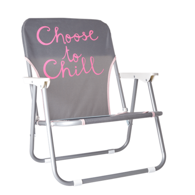 Rice Strandstoel met Choose to Chill tekst - Donkergrijs