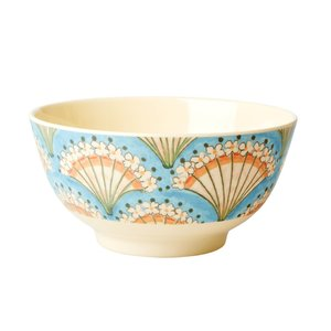 Rice Medium Melamine Bowl Flower Fan Print