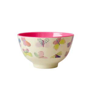 Rice Small Melamine Bowl Butterfly Print
