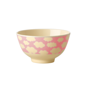 Small Melanine Bowl Pink Clouds